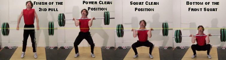 Squat Clean Technique of The Squat Clean Example